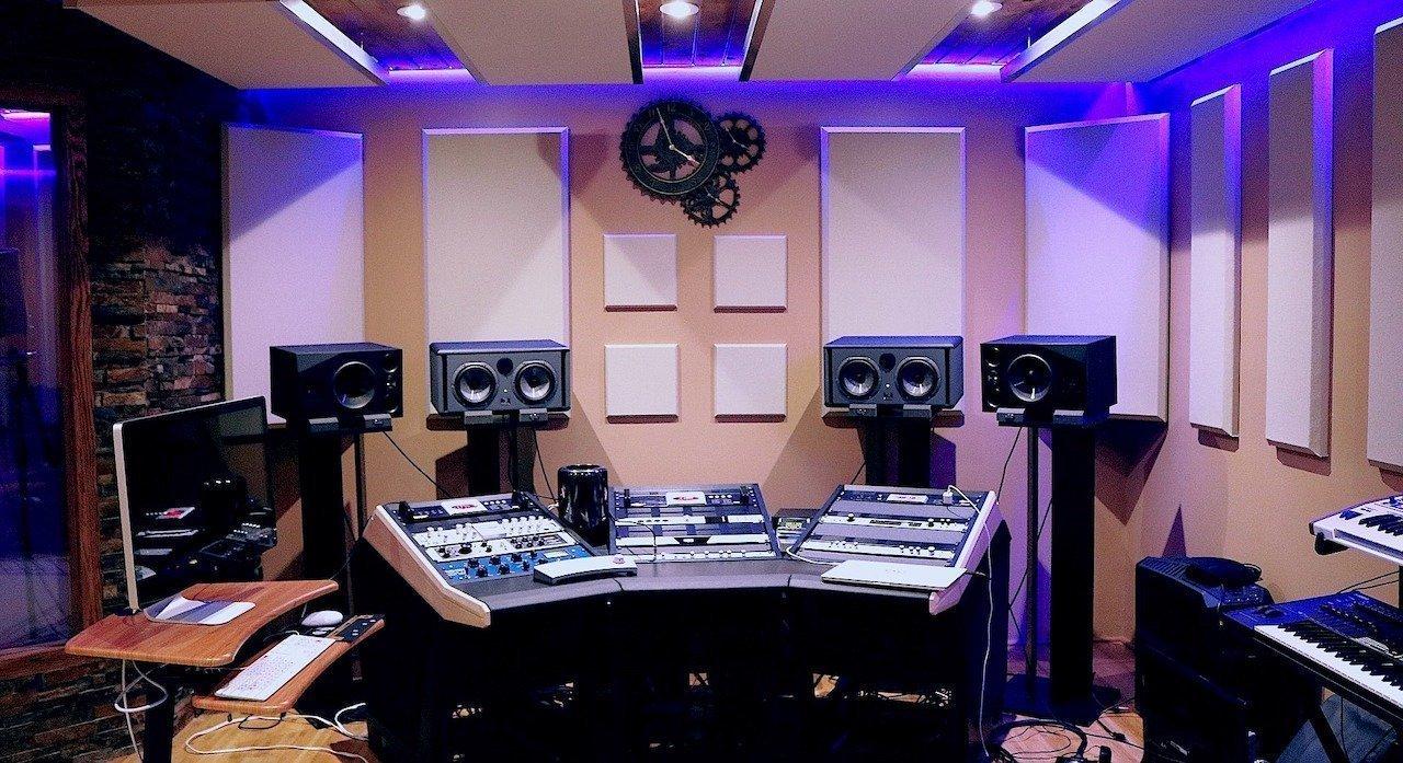 Als Schlagzeuger im Tonstudio, Recording Studio